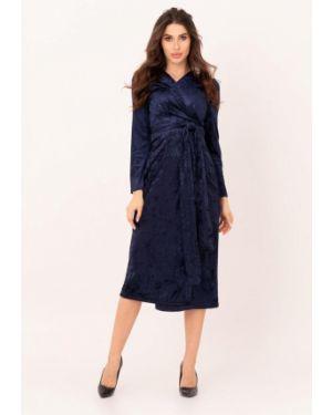 Вечернее платье осеннее синее Magnet