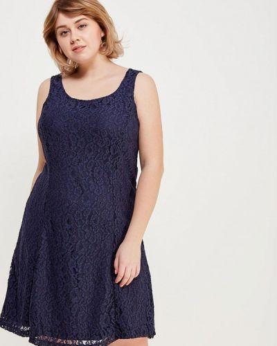Синее платье прямое Junarose