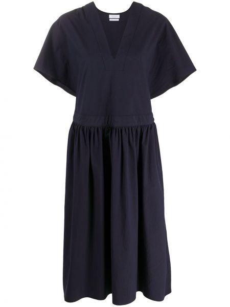 Платье миди плиссированное с V-образным вырезом Deveaux