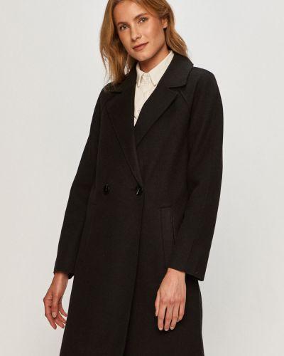 Klasyczny czarny płaszcz z kapturem Only