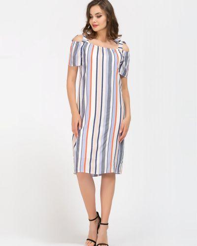 Повседневное прямое с рукавами платье миди Remix