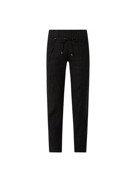 Czarne spodnie z wiskozy Rosner