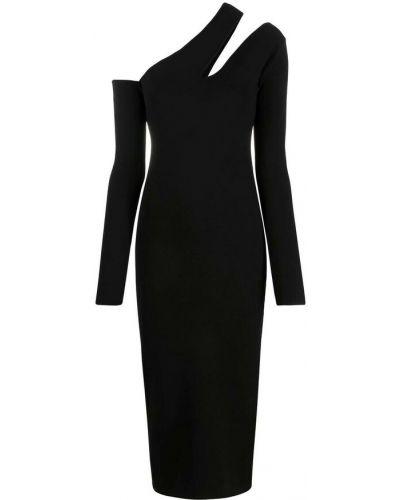Czarna sukienka Nanushka