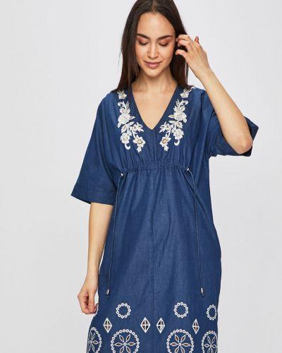 Джинсовое платье с вышивкой мини Desigual