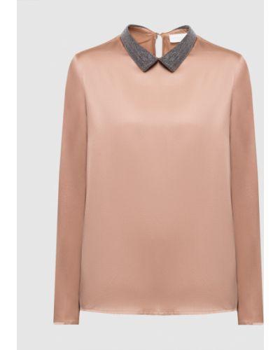 Бежевая шелковая блузка Fabiana Filippi