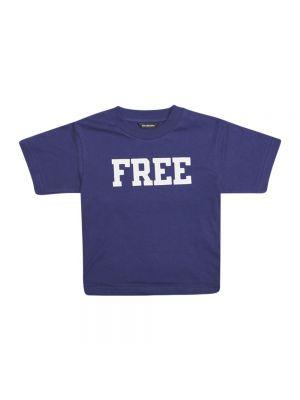 T-shirt - niebieska Balenciaga