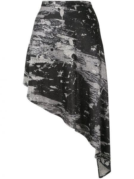 Юбка с завышенной талией - черная Strateas Carlucci