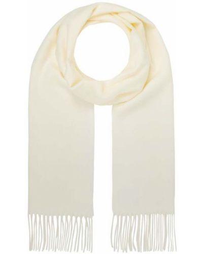 Biała ciepła szal z frędzlami Fraas