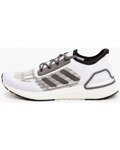 Текстильные белые кроссовки Adidas