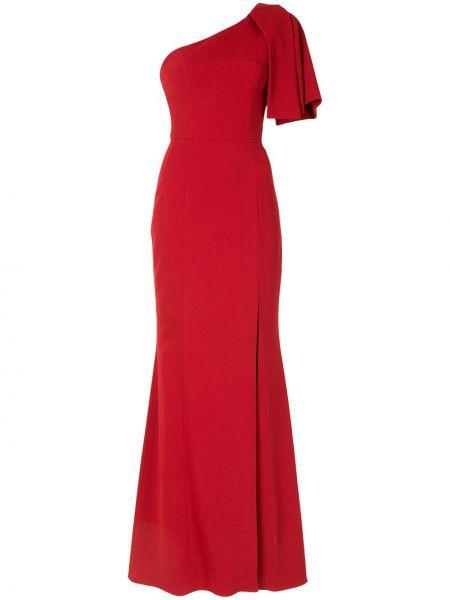 Брендовое красное платье макси с разрезом Ginger & Smart