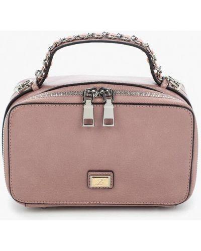 Розовая кожаный сумка Zarina