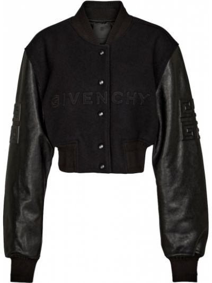 Черная кожаная куртка Givenchy