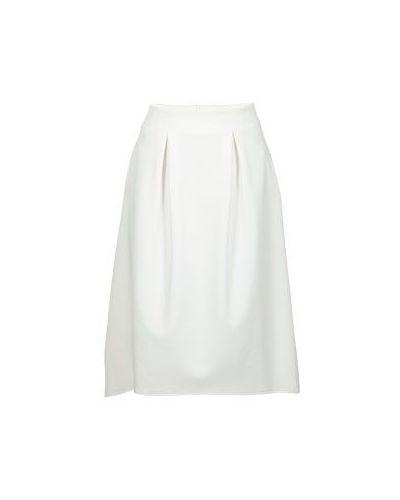 Белая юбка миди Armani Jeans