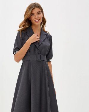 Платье футляр серое Imperial
