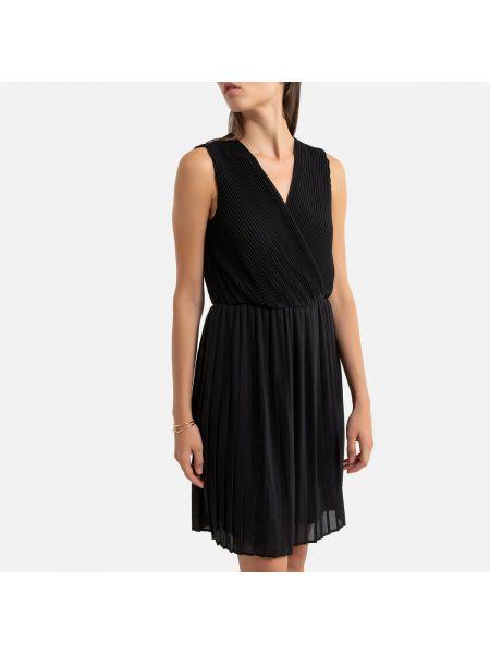 Платье с поясом с V-образным вырезом трапеция La Redoute