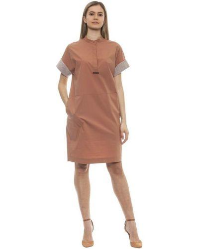 Brązowa sukienka Peserico