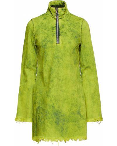 Sukienka mini bawełniana - zielona Marques Almeida