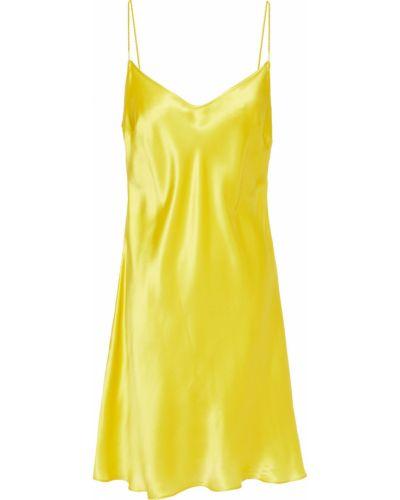 Satynowa koszula nocna - żółta Carine Gilson