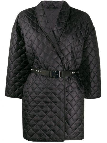 Приталенная черная куртка с поясом Ermanno Ermanno