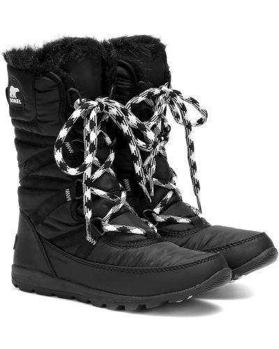 Wysoki buty ażurowy czarne Sorel