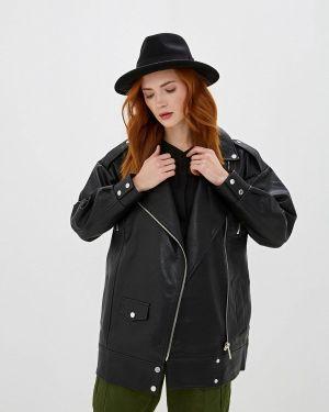 Кожаная куртка черная осенняя Sh