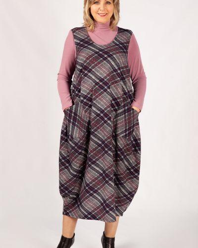 Сарафан с вырезом с карманами в стиле бохо из вискозы милада