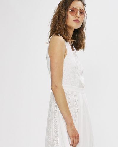Платье миди с оборками льняное Silvian Heach