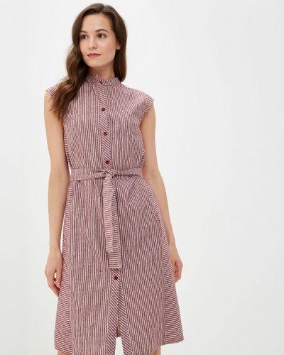 Платье бордовый прямое Kristina Kapitanaki