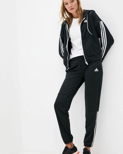 Черный костюмный спортивный костюм Adidas