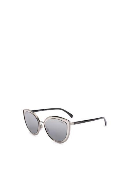 Черные солнцезащитные очки металлические Chanel
