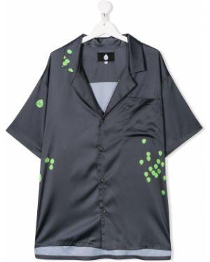 Рубашка на пуговицах с карманами с воротником с короткими рукавами Natasha Zinko Kids