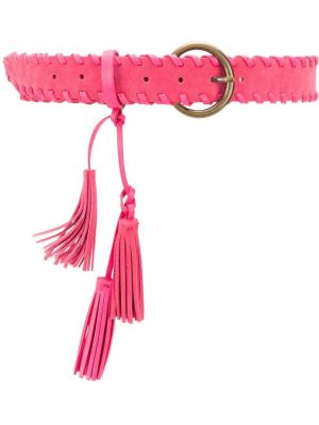 Кожаный розовый ремень с поясом Twin-set