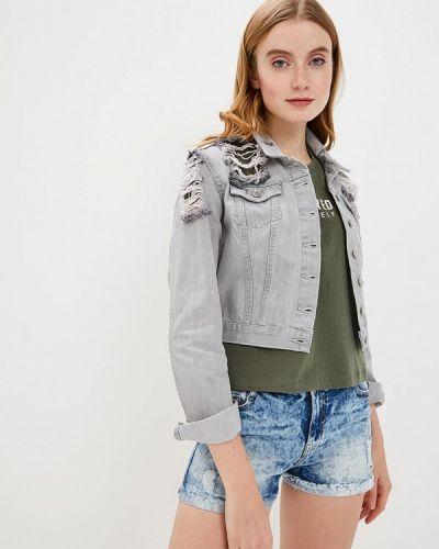Серая джинсовая куртка Sh