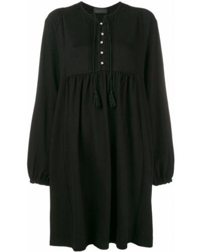 Платье макси на пуговицах с длинными рукавами Diesel Black Gold