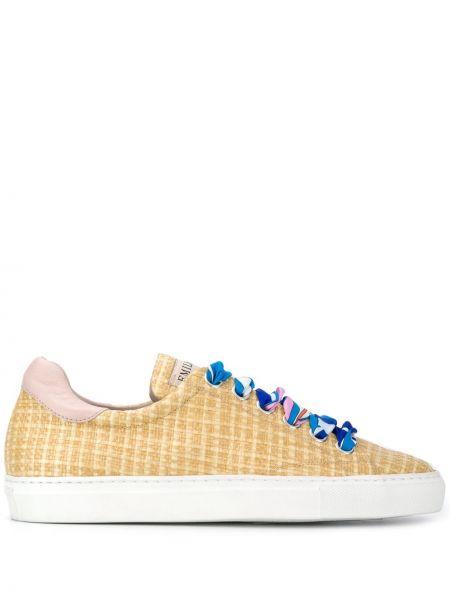 Sneakersy - beżowe Emilio Pucci