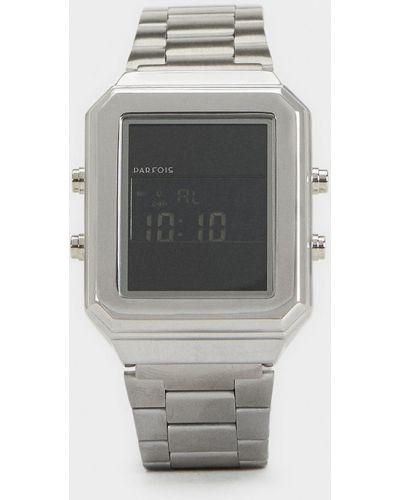Кварцевые часы серебряные прямоугольный Parfois