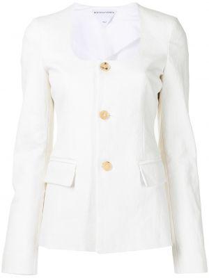Белый пиджак длинный Bottega Veneta