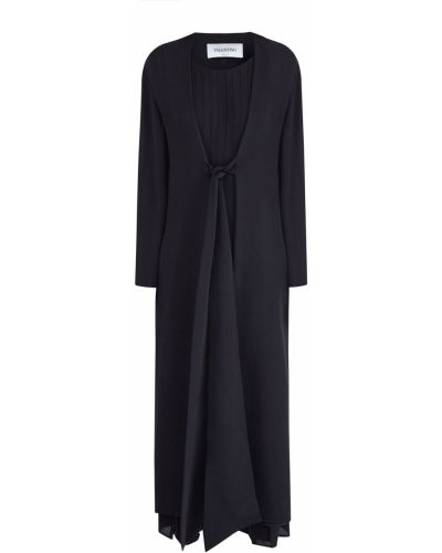 Платье из крепа шелковое Valentino