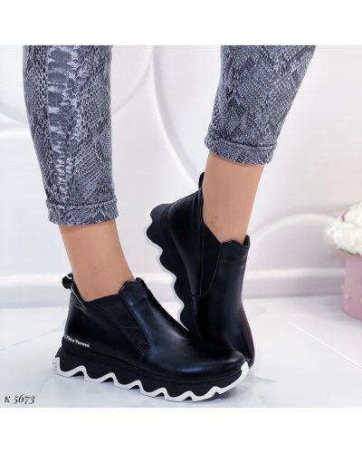 Кожаные ботинки - черные Nika Veroni