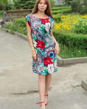 Платье с цветочным принтом из штапеля Lika Dress