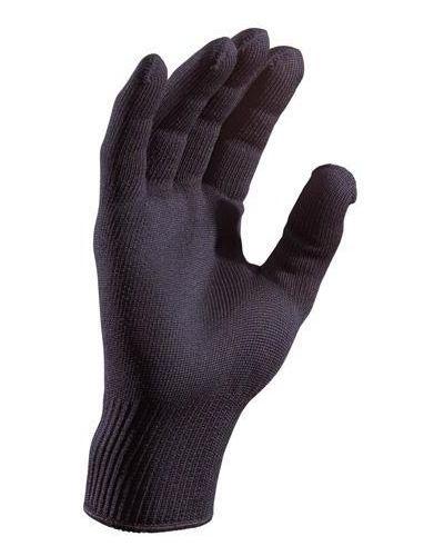 Кожаные перчатки тонкие черные Foxriver