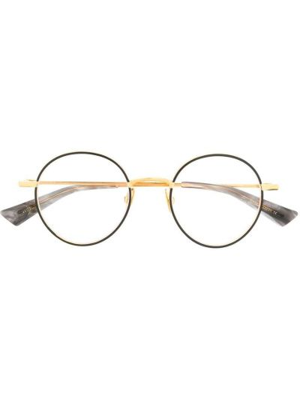 Złote czarne okulary Christian Roth