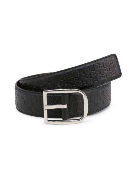 Czarny pasek skórzany z klamrą Gucci