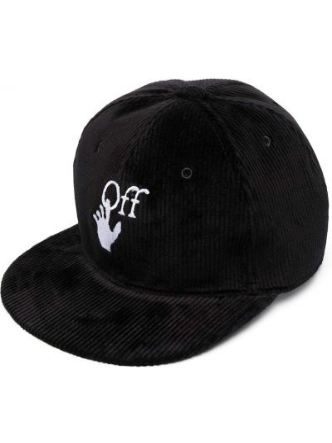 Czarna czapka z haftem bawełniana Off-white
