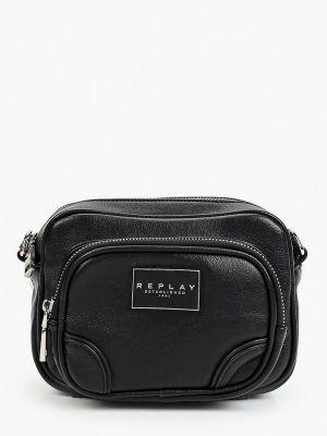 Кожаная сумка - черная Replay
