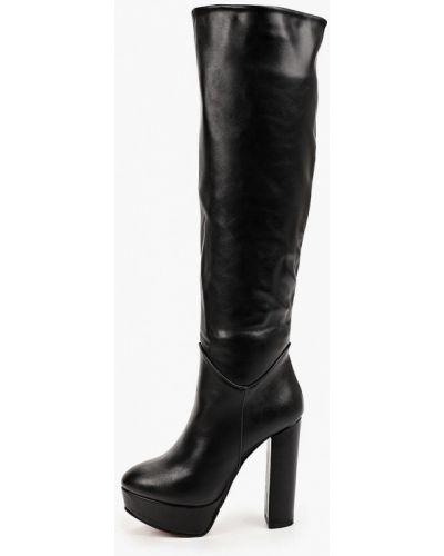 Черные кожаные сапоги Araz