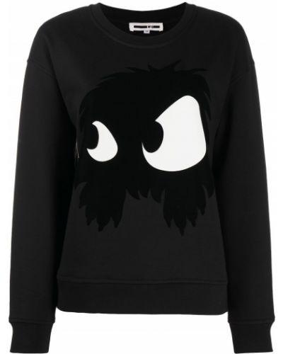 Черный свитер с круглым вырезом круглый свободного кроя Mcq Alexander Mcqueen