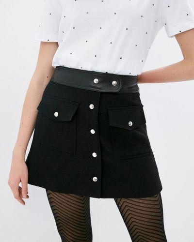 Черная юбка свободного кроя The Kooples