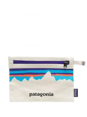 Белая льняная косметичка с заплатками Patagonia