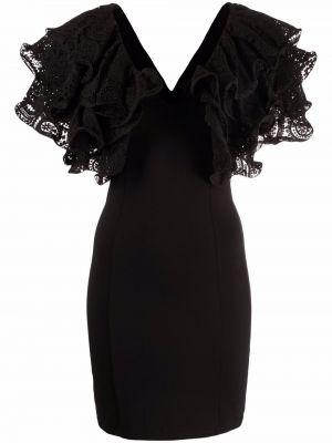 Кружевное платье мини - черное Rotate